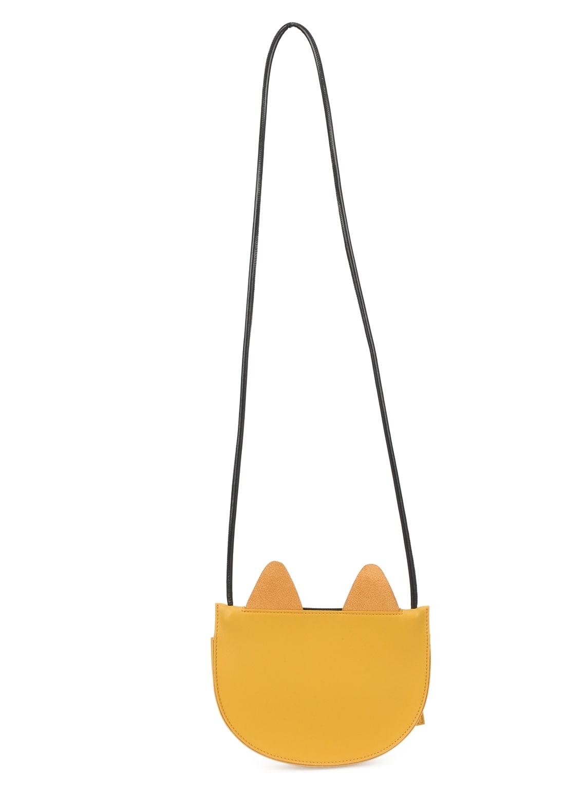 Bolsa Transversal Gatinho Up4you Amarelo Mostarda Original
