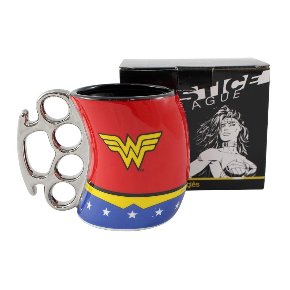 Caneca Soco Mulher Maravilha Xícara Wonder Woman Original
