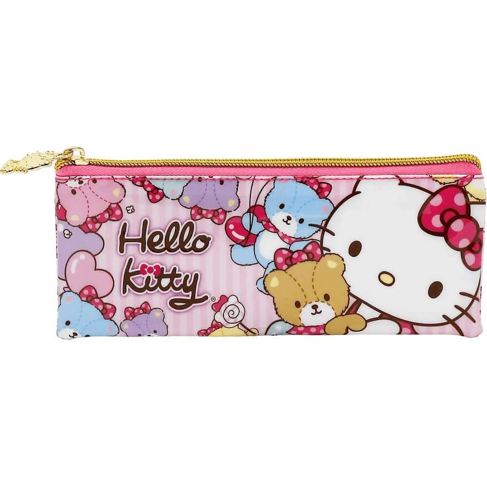 Estojo Escolar Infantil Hello Kitty Rosa Ziper Personalizado