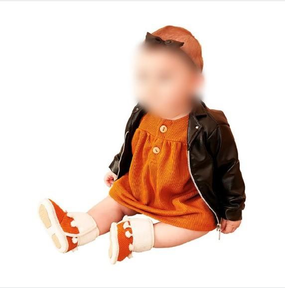 Jaqueta Couro Sintético Bebê Estilo Preto Tam. M 3 a 6 meses