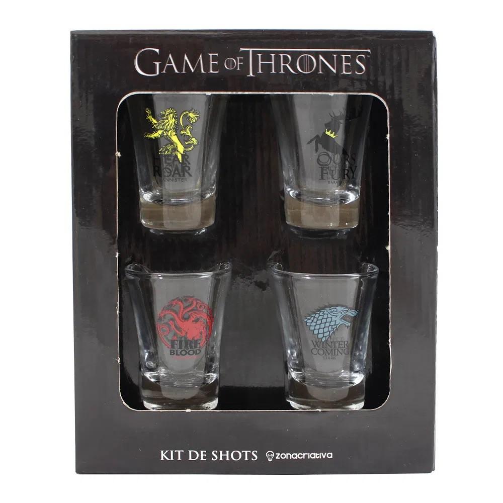 Kit de Shot 4 peças 60ml Game of Thrones Brasões HBO Original