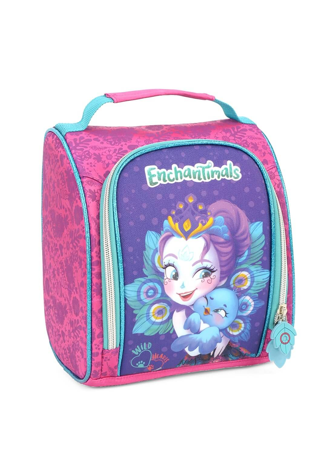 Kit Escolar Mochila de Rodinha + Lancheira Enchantimals Pink