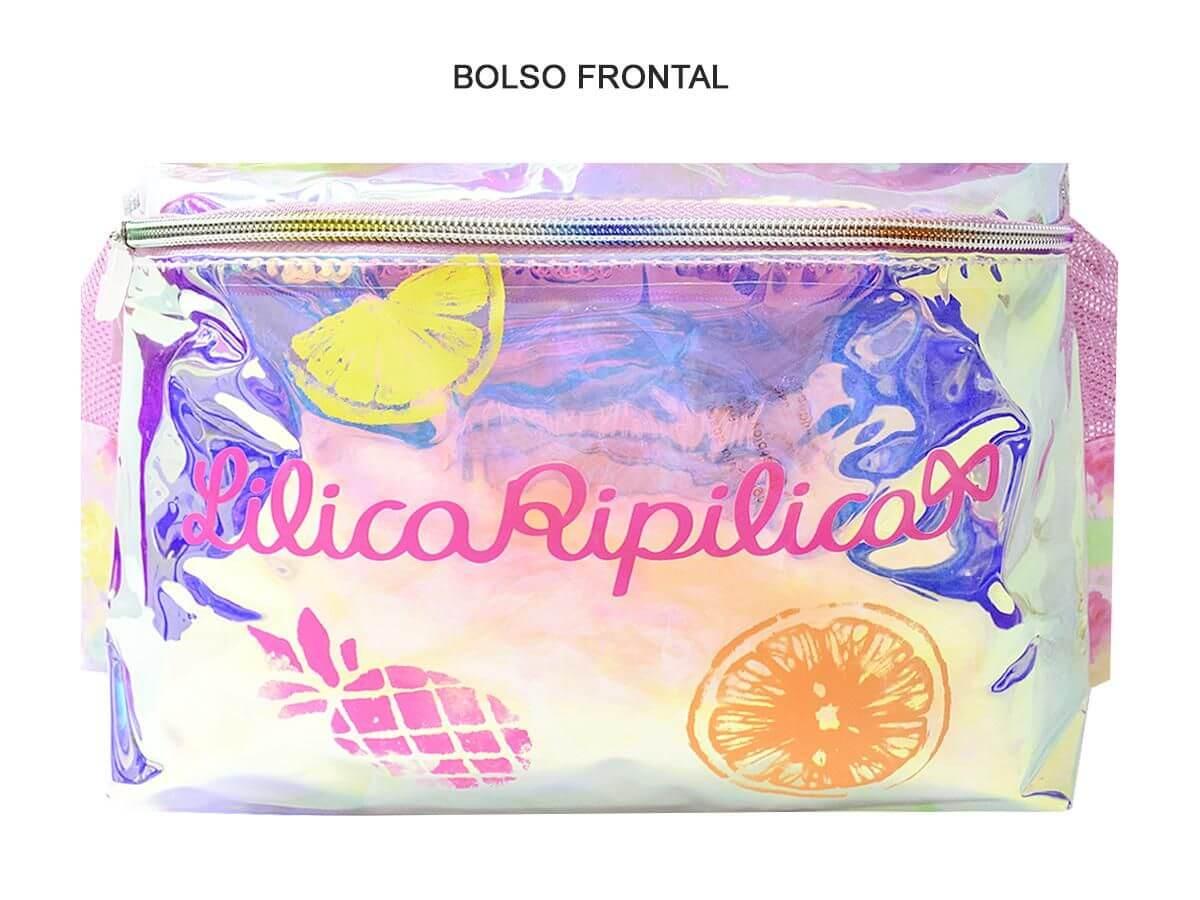 Kit Mochila Costas Lilica Ripilica Fun + Lancheira Original
