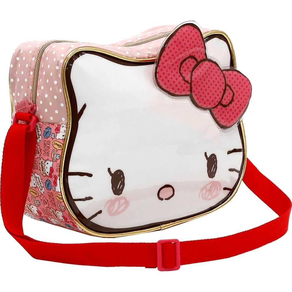 Kit Mochila de Rodinhas + Lancheira + Estojo Hello Kitty