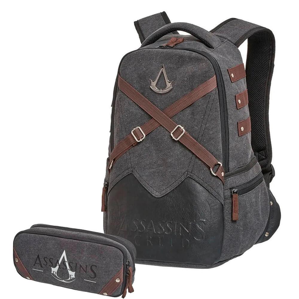 Kit Mochila Notebook Assassins Creed +Estojo Duplo Original