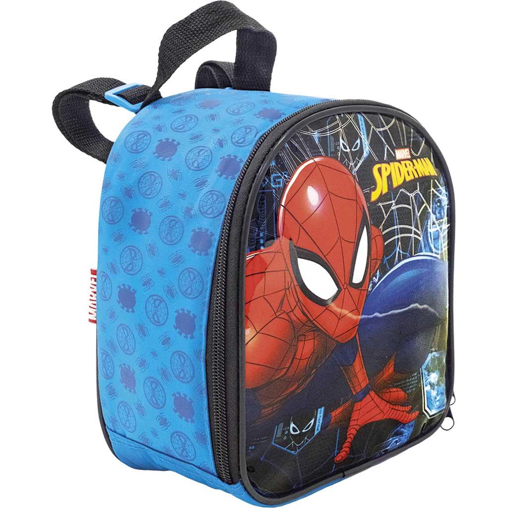Kit Mochila Rodinha Lancheira Estojo Homem Aranha Spider Man