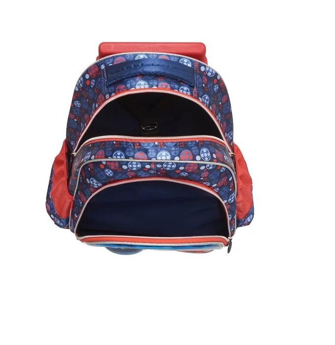Kit Mochila Rodinha SAPHIR Miraculous Ladybug+Lancheira Cor:Azul