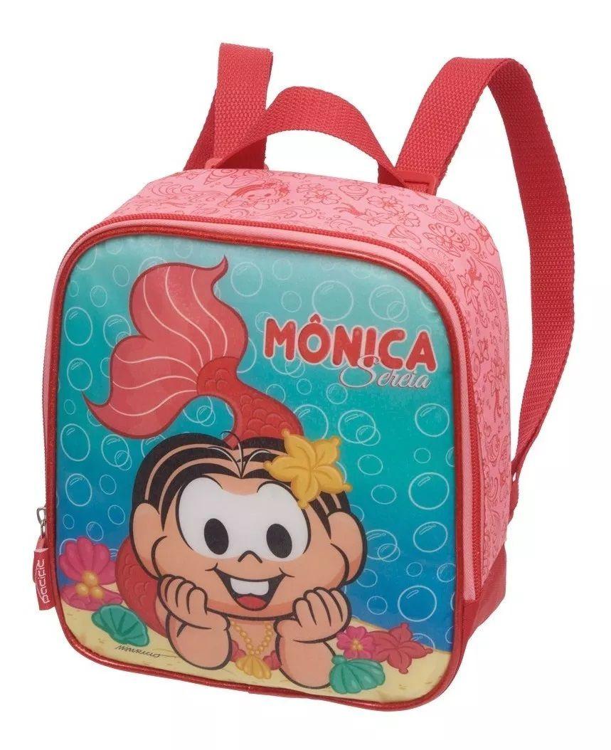 Kit Mochila Rodinha Turma Da Monica Sereia Original+ Lanchei