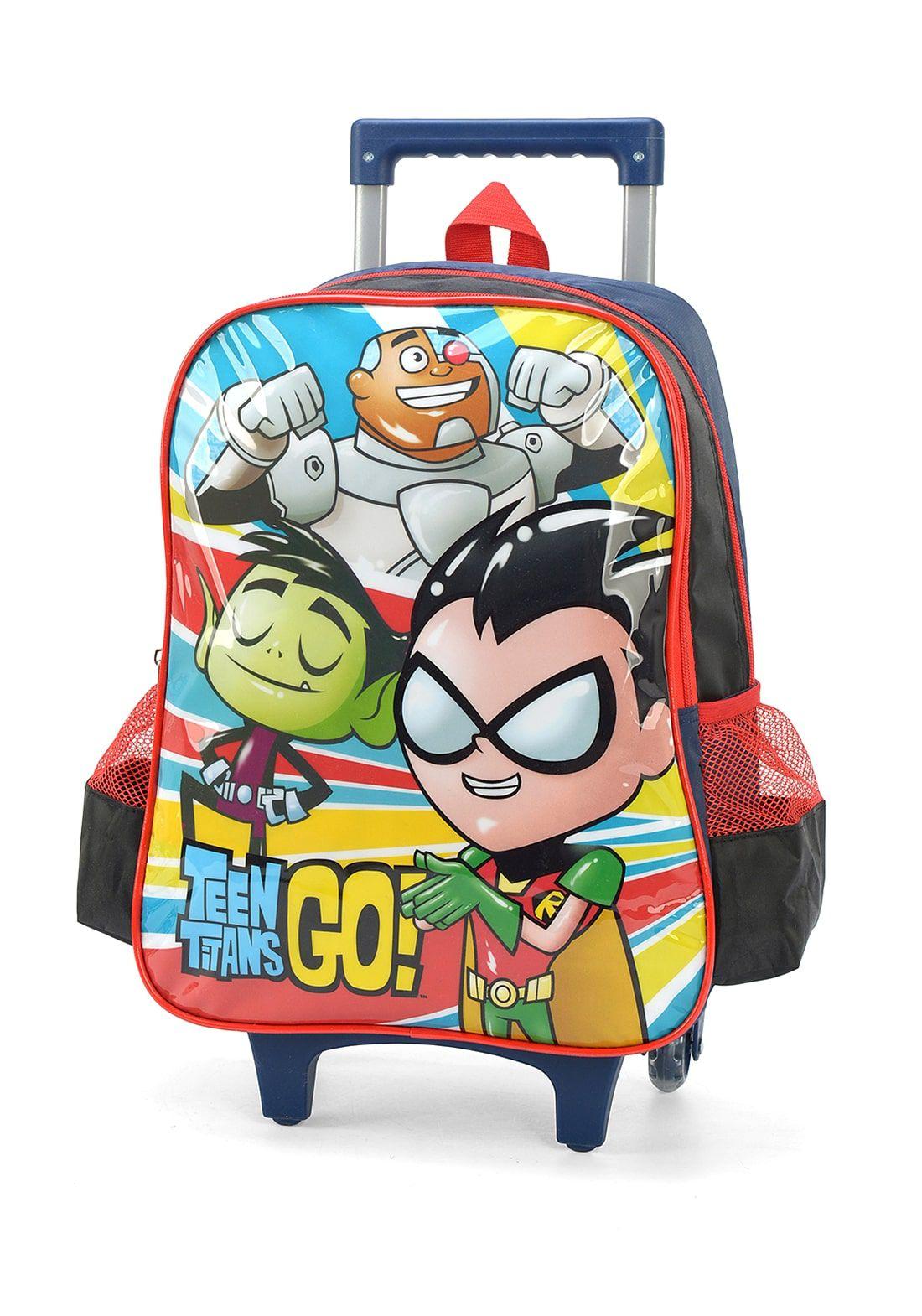 Kit Mochila Rodinhas Teen Titans Go + Lancheira Jovens Titãs