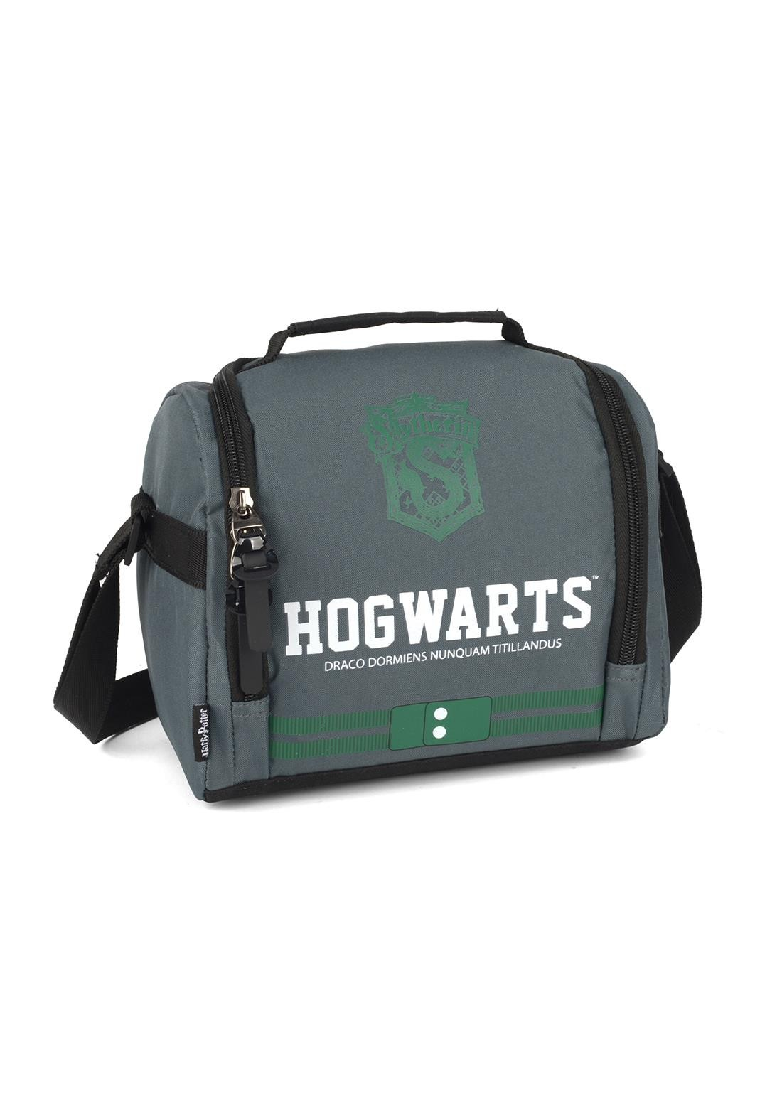 Lancheira Harry Potter Sonserina  Hogwarts Verde Original