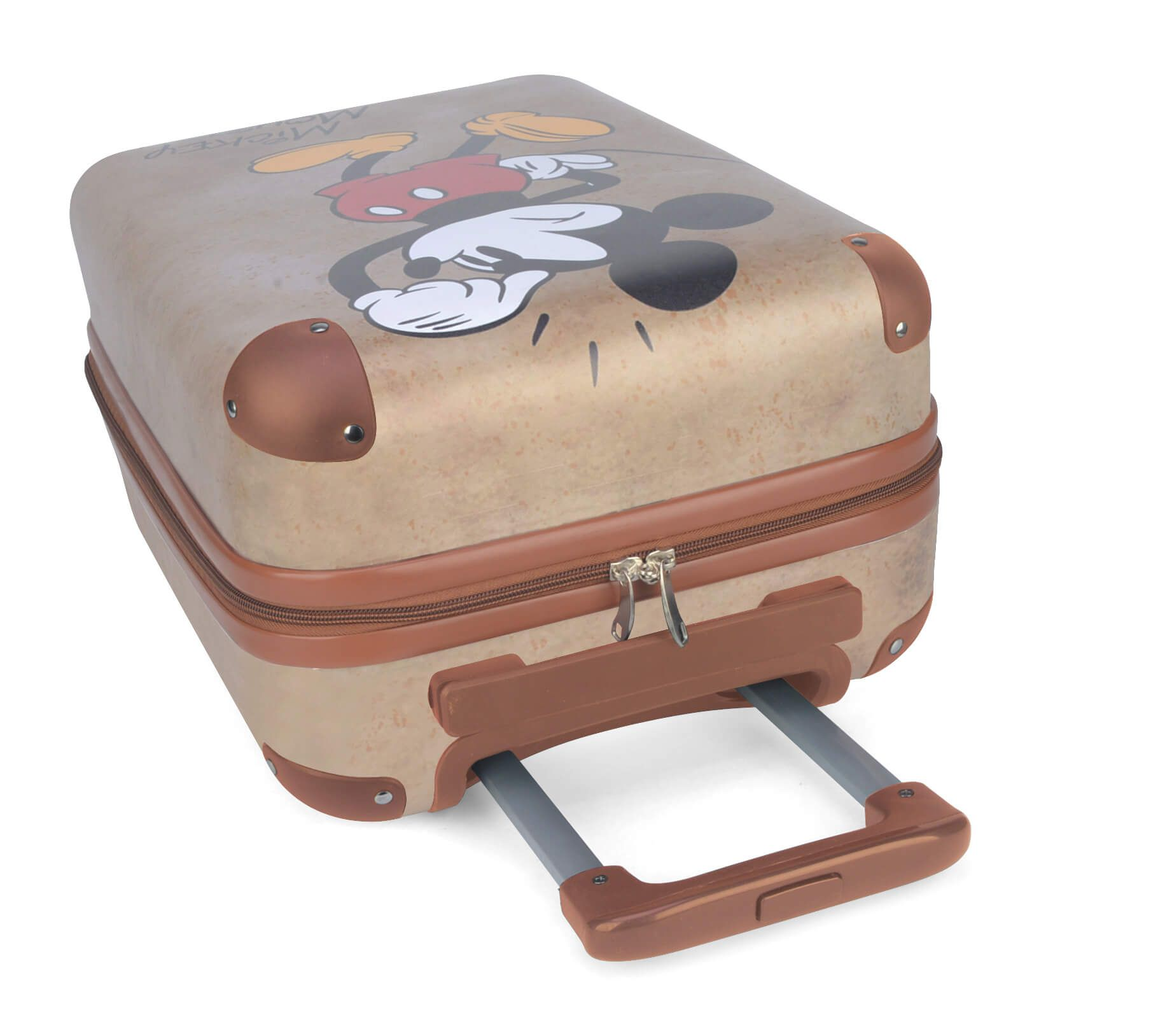 Mala De Viagem Mickey Mouse Disney Pequena P Rodas 360° Ouro