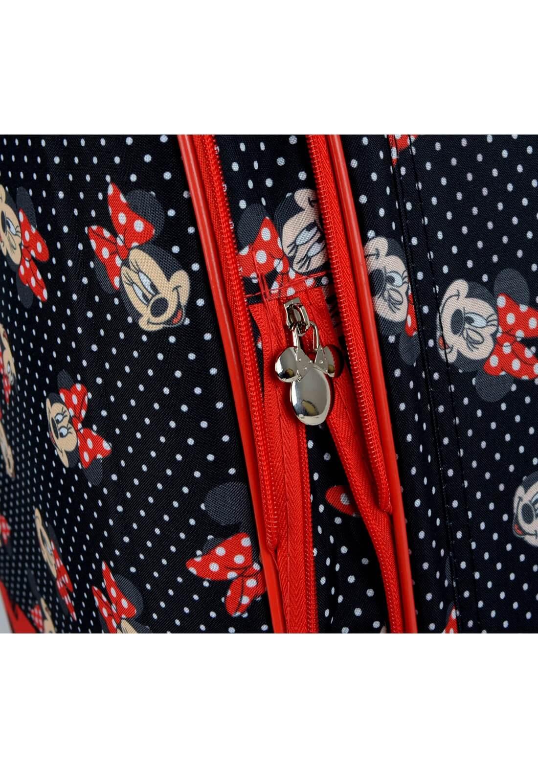 Mala Disney Minnie Mouse Vermelha P Bordo Preta e Vermelha