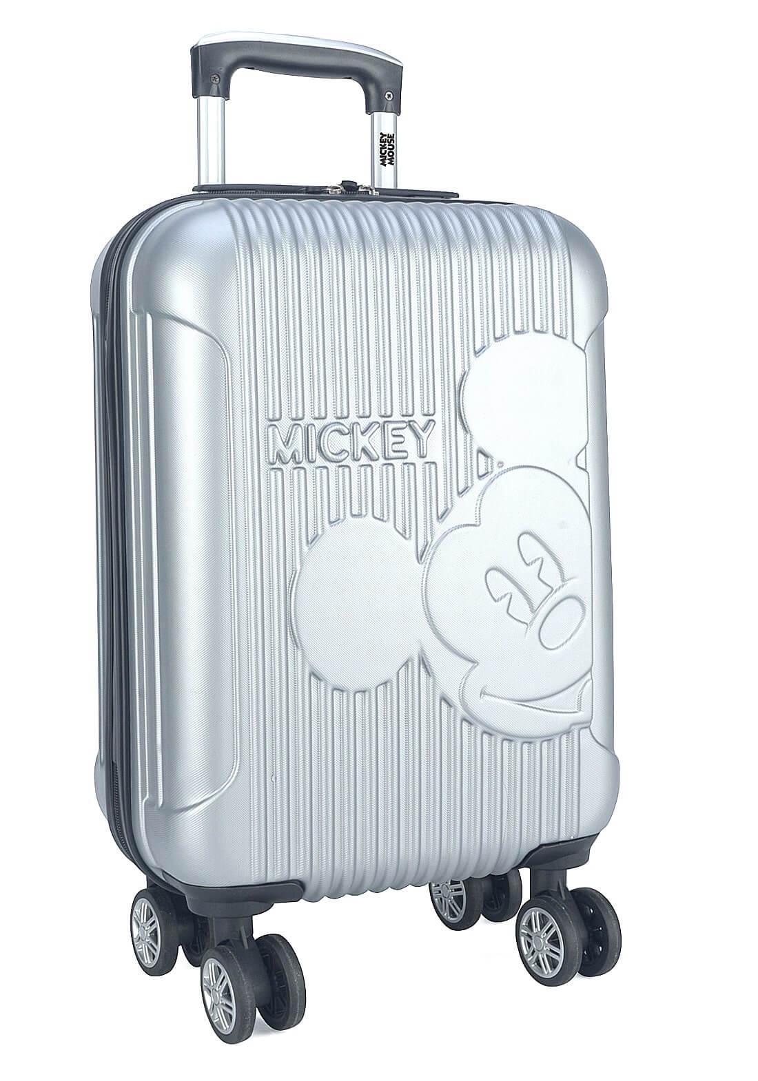Mala Mickey Mouse Disney P Bordo com Rodinhas 360 ° Prata