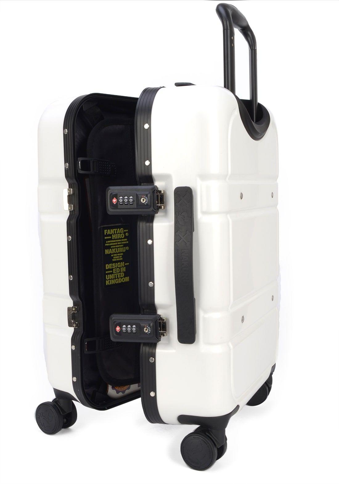 Mala Nakuru Rígida Branca Rodas 360 TSA 2 Anos Garantia