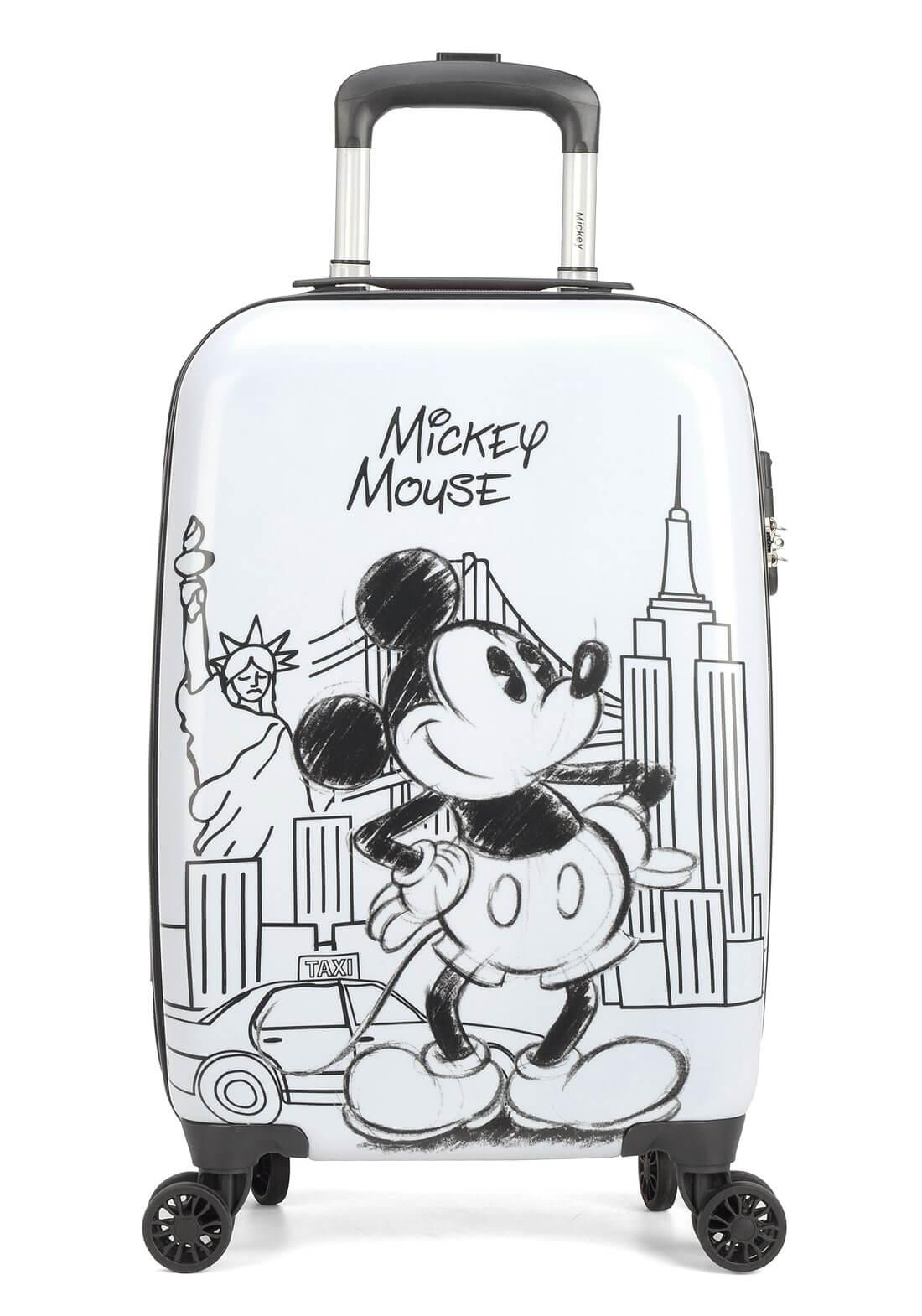 Mala Viagem Mickey Mouse New York P  Cadeado Branca Original