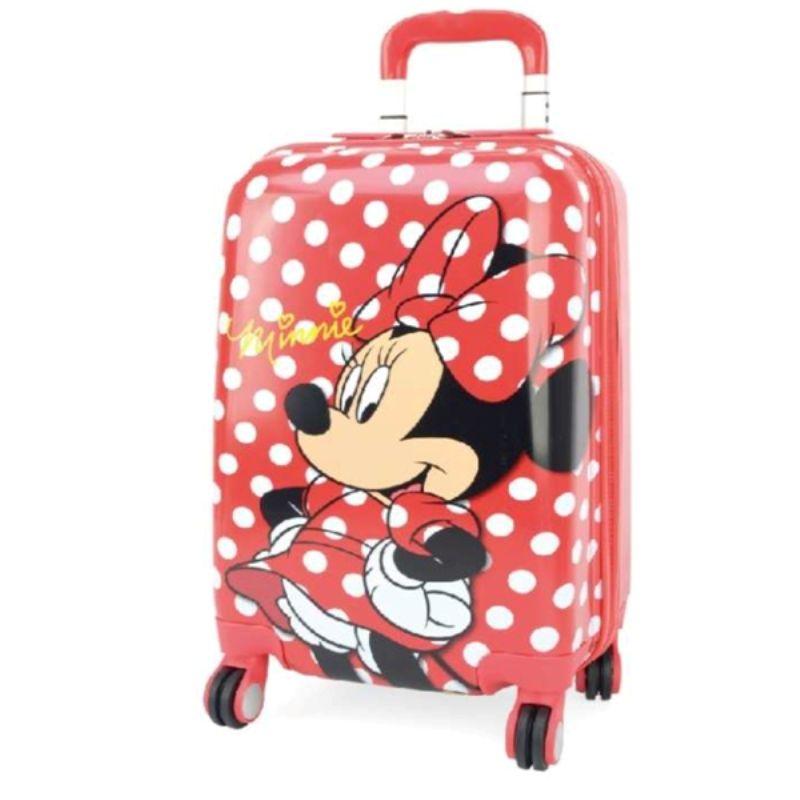 Mala Viagem Minnie Rodas 360  Rigida Disney Original Verm P