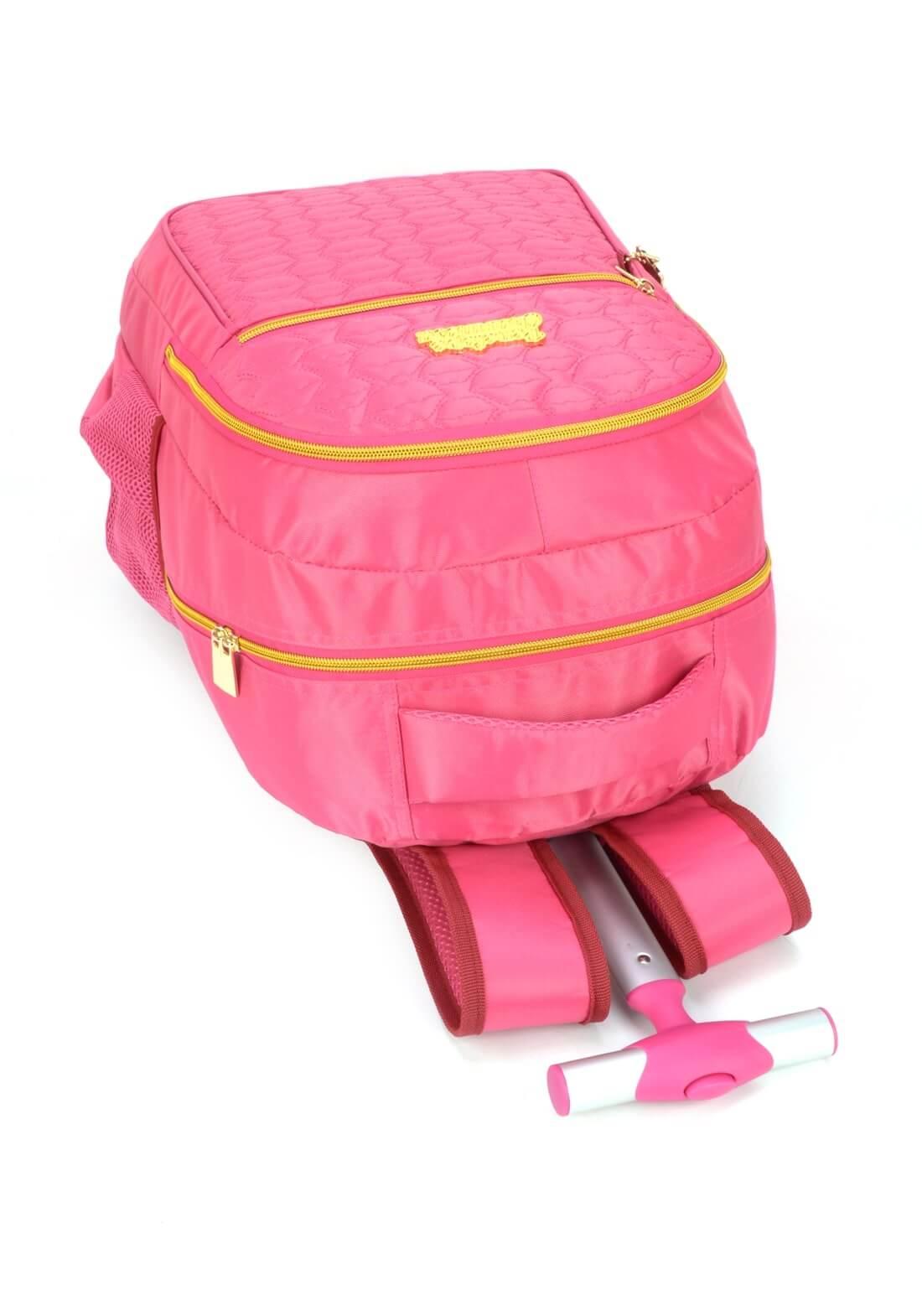 Mochila Carrinho Notebook Penélope Charmosa Pink Original