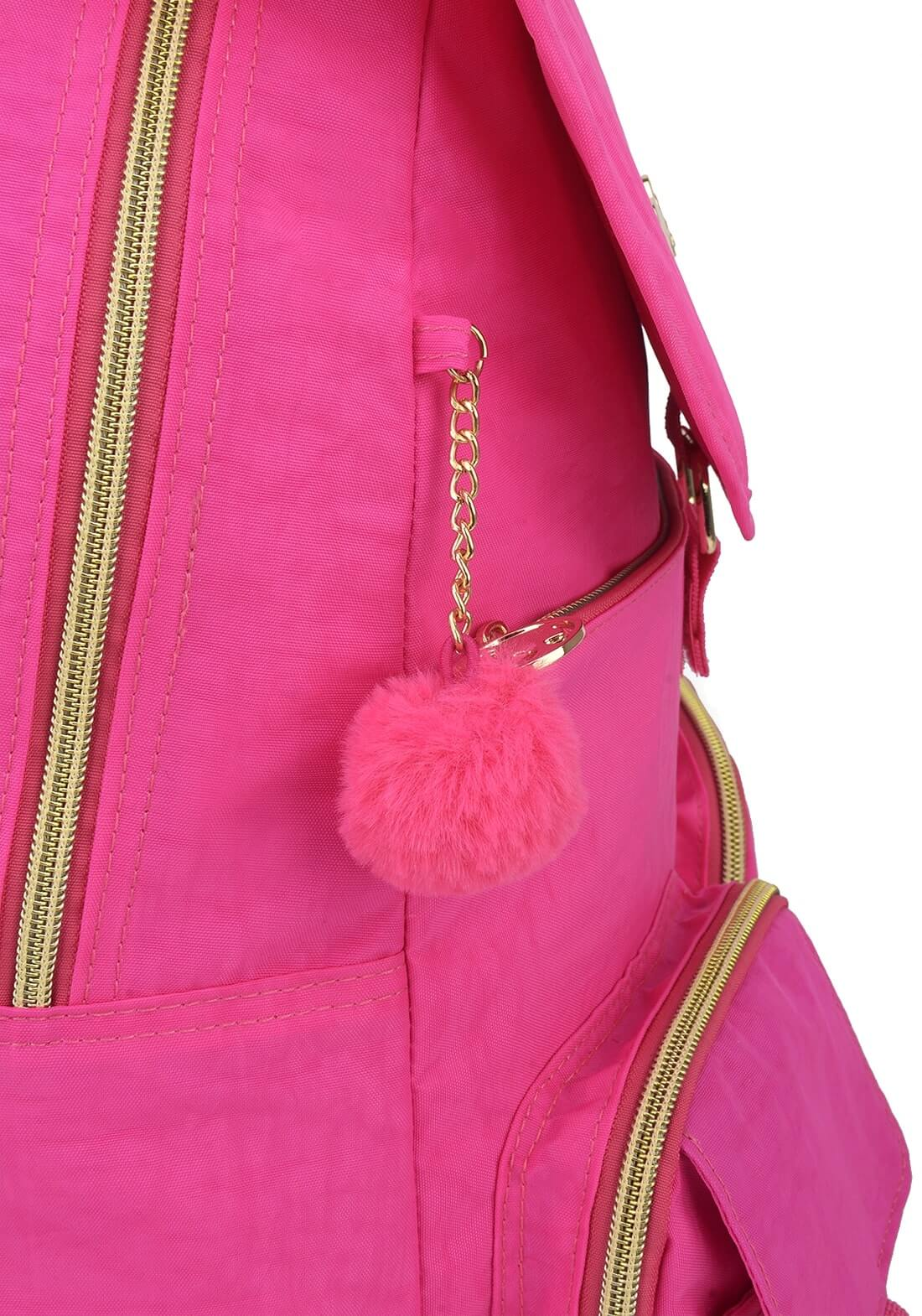 Mochila Costas Barbie Notebook Rosa Pink Original Pom Pom