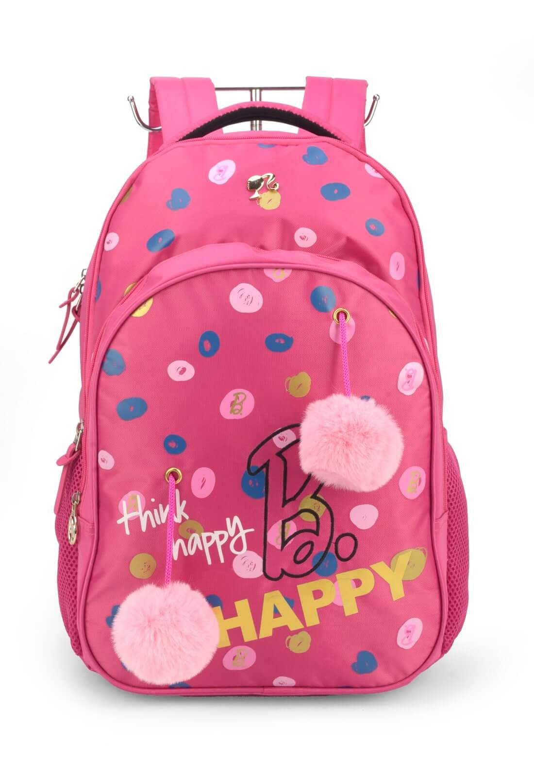 Mochila Costas Barbie Rosa Pink Pom Pom Notebook Original