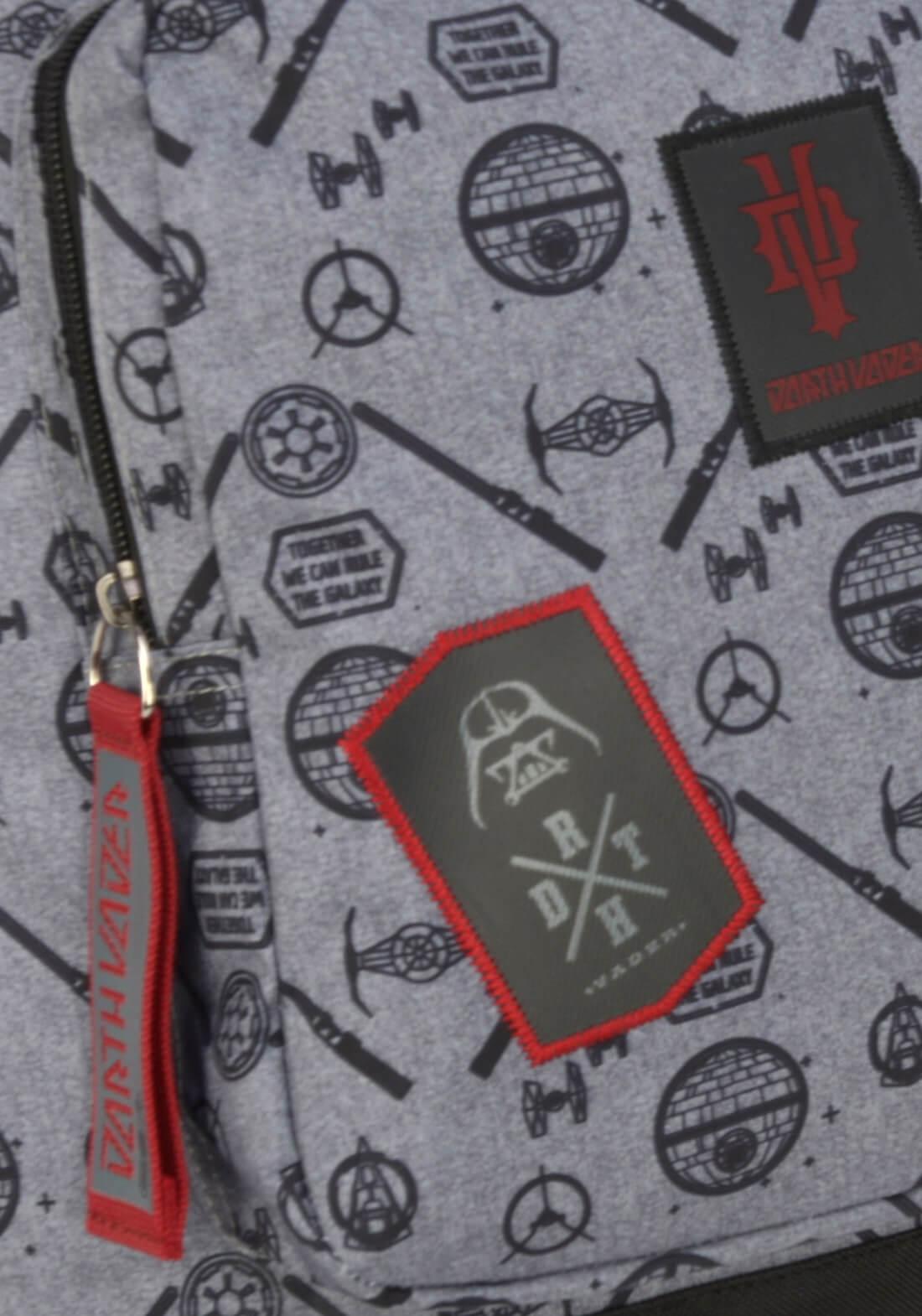 Mochila Costas Star Wars Cinza Darth Vader Original Garantia