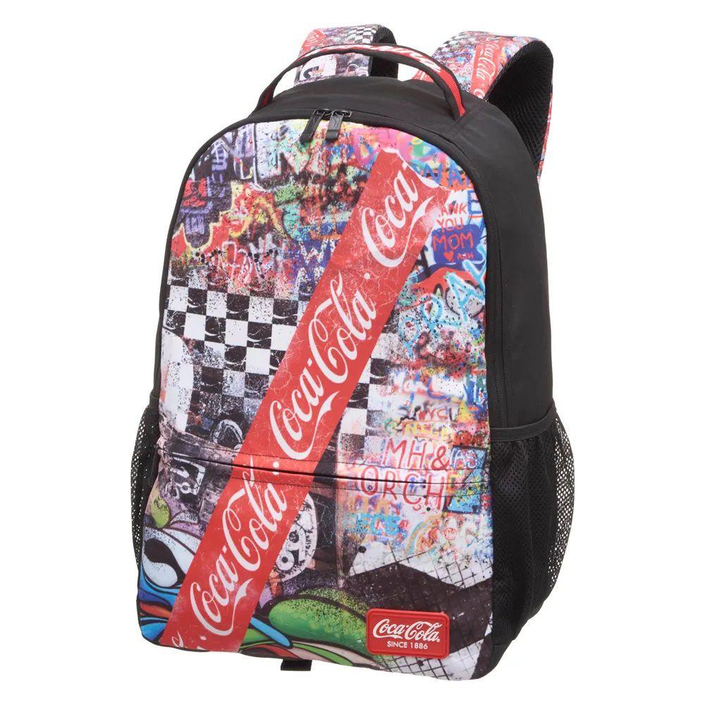 Mochila de Costas Coca Cola Street G Preta Produto Original
