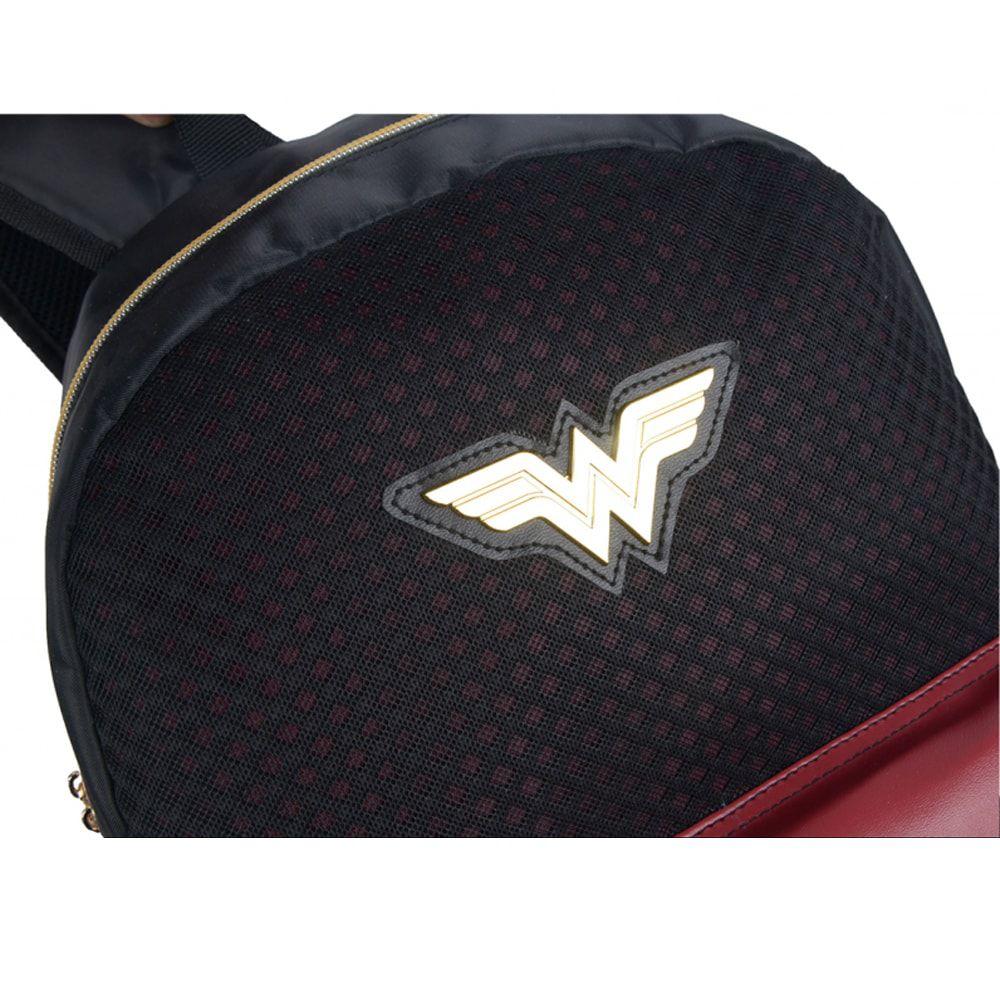 Mochila De Costas Wonder Woman Mulher Maravilha Estrelas Preta