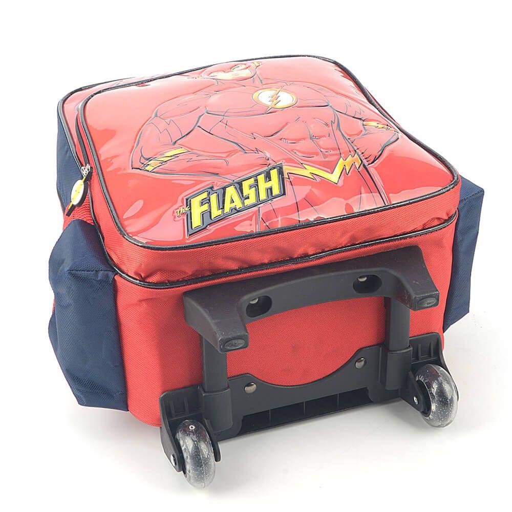 Mochila Escolar Rodinha The Flash Original Nota Garantia AZ