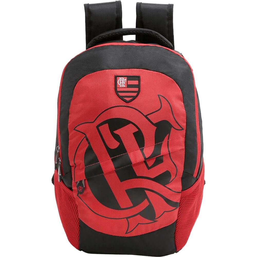 Mochila Flamengo Escudo Vermelha Original Nota Fiscal