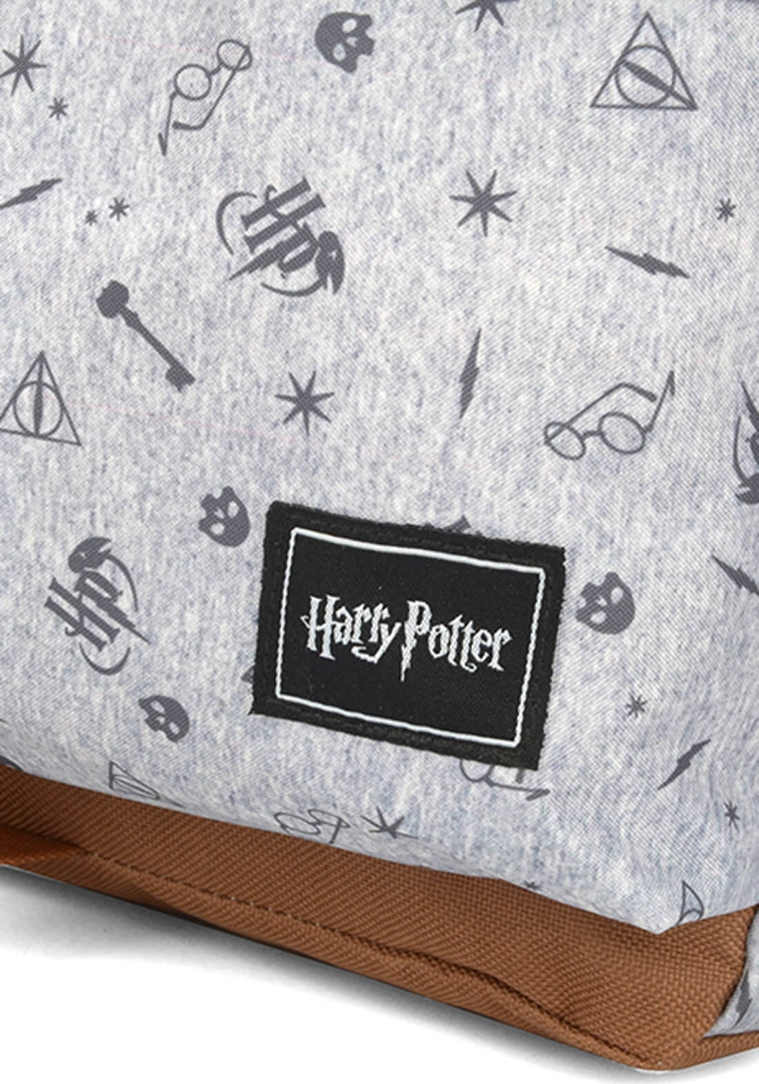 Mochila Harry Potter Símbolos Óculos Relíquias Da Morte Cinz