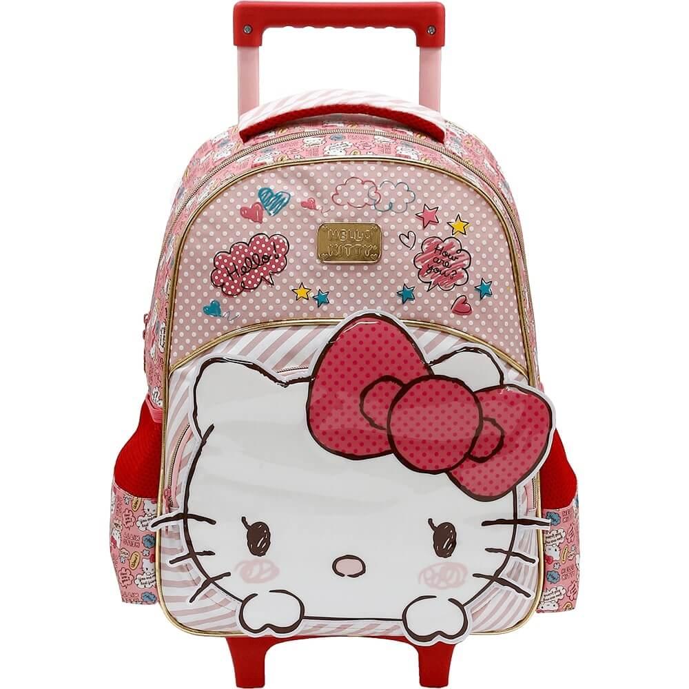 Mochila Infantil Rodinha Hello Kitty 3D Top Rosa Original