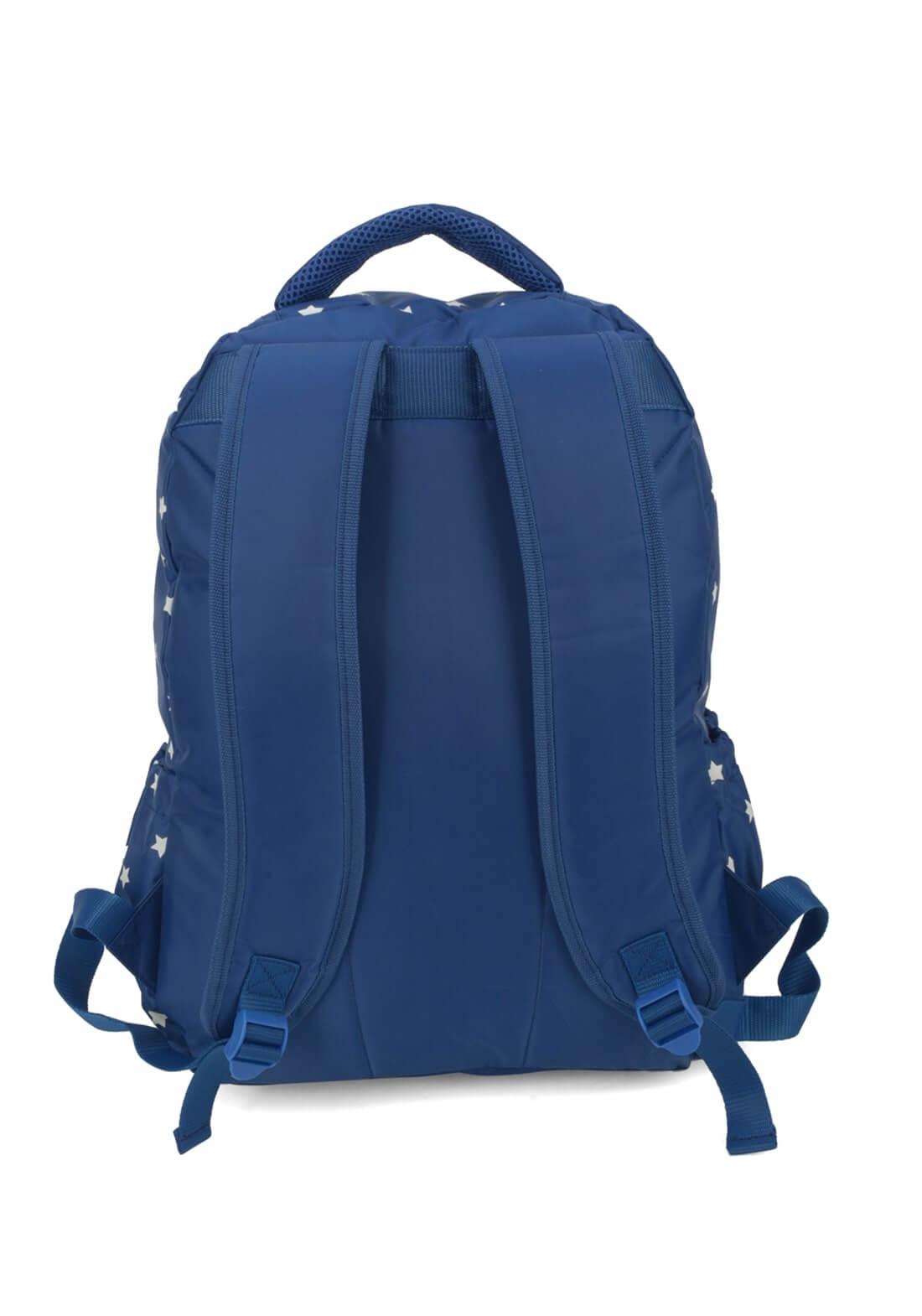 Mochila Mulher Maravilha Azul Porta Laptop Notebook Original