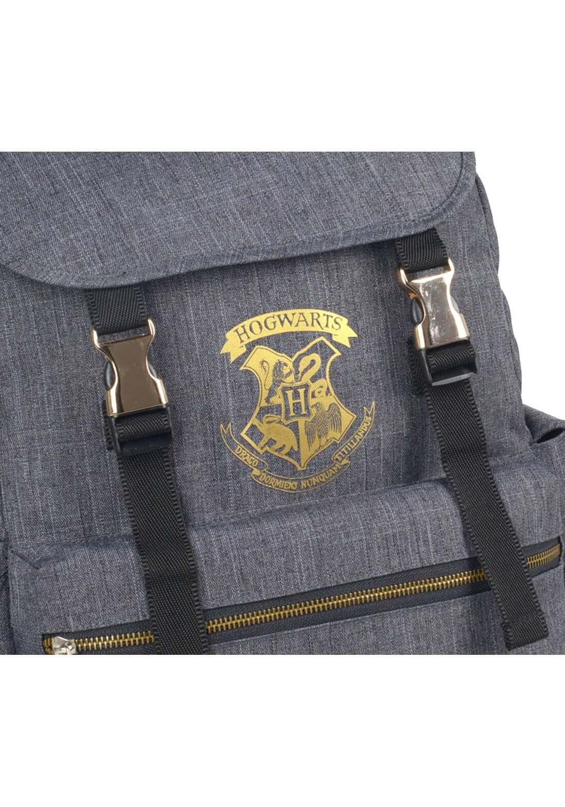 Mochila de Costas Brasão Hogwarts Notebook Chumbo Harry Potter