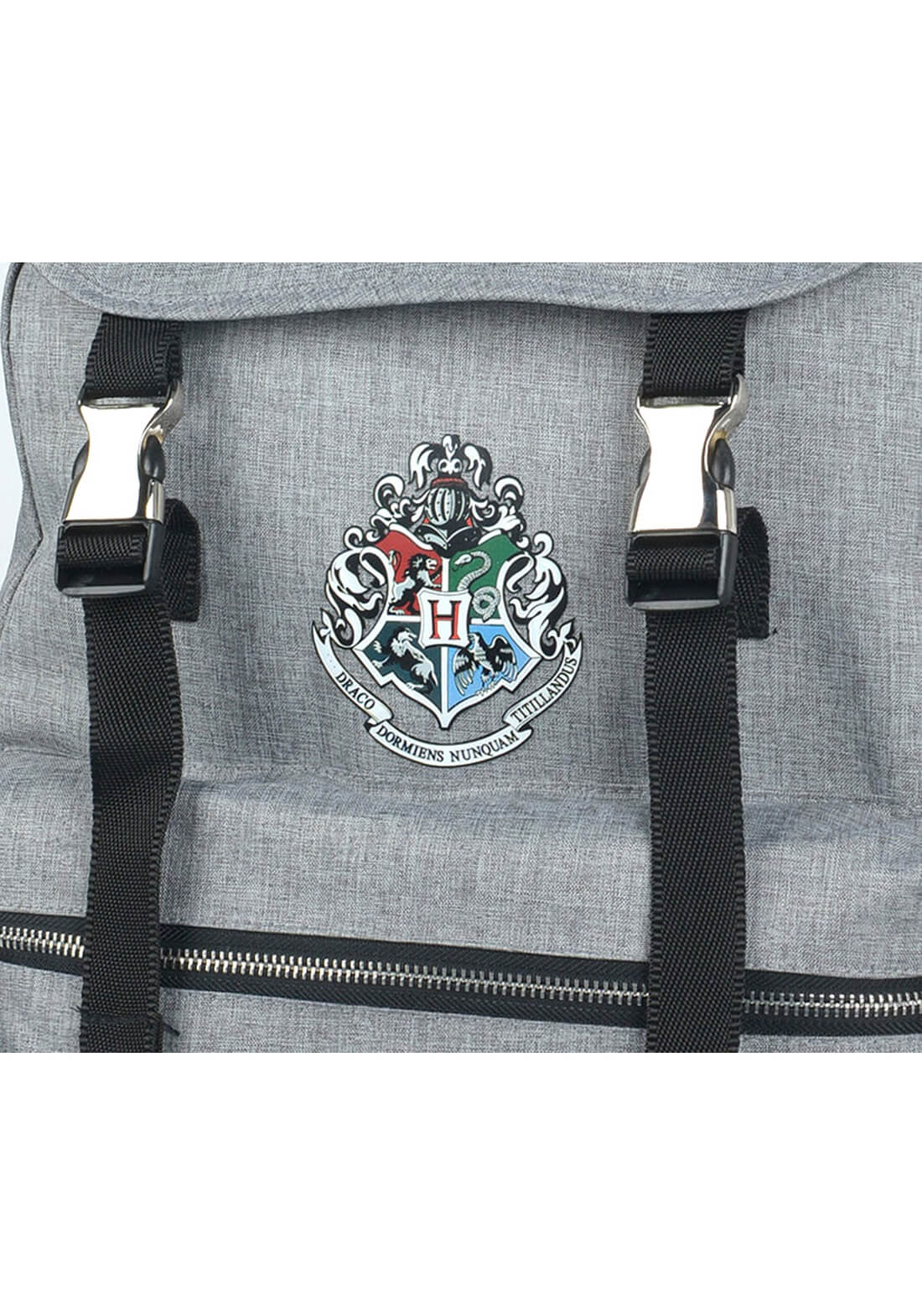 Mochila de Costas Brasão Hogwarts Notebook Cinza Harry Potter