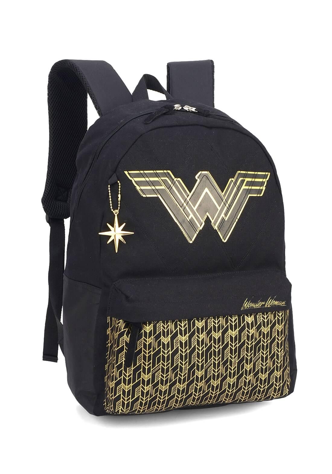Mochila Notebook Mulher Maravilha Wonder Woman Pret Original
