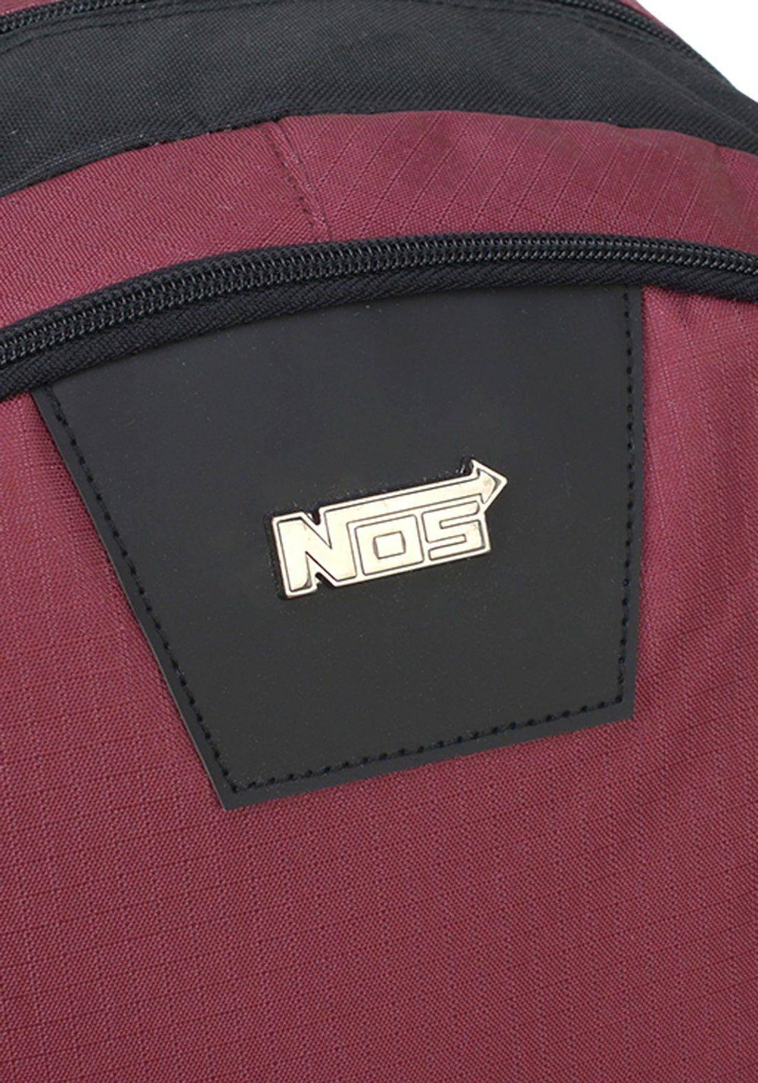 Mochila Notebook NOS Vinho Alça Costas Original NF Garantia