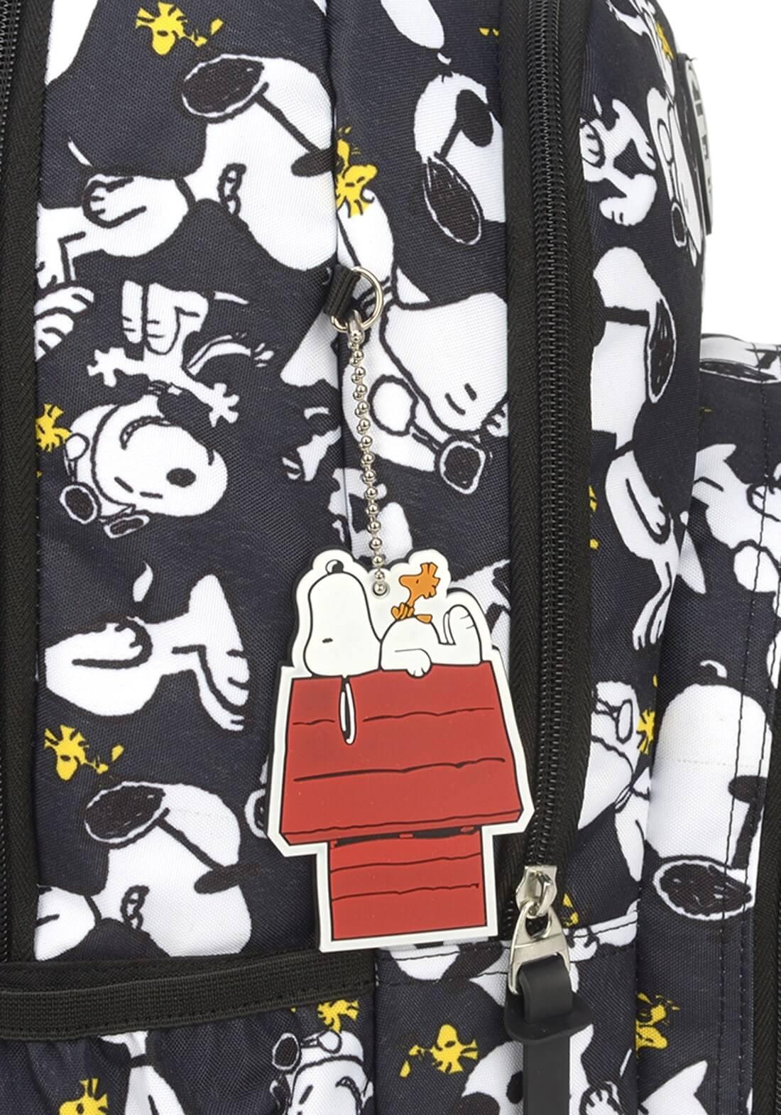 Mochila Notebook Peaunuts Snoopy by Up4You Preta Original