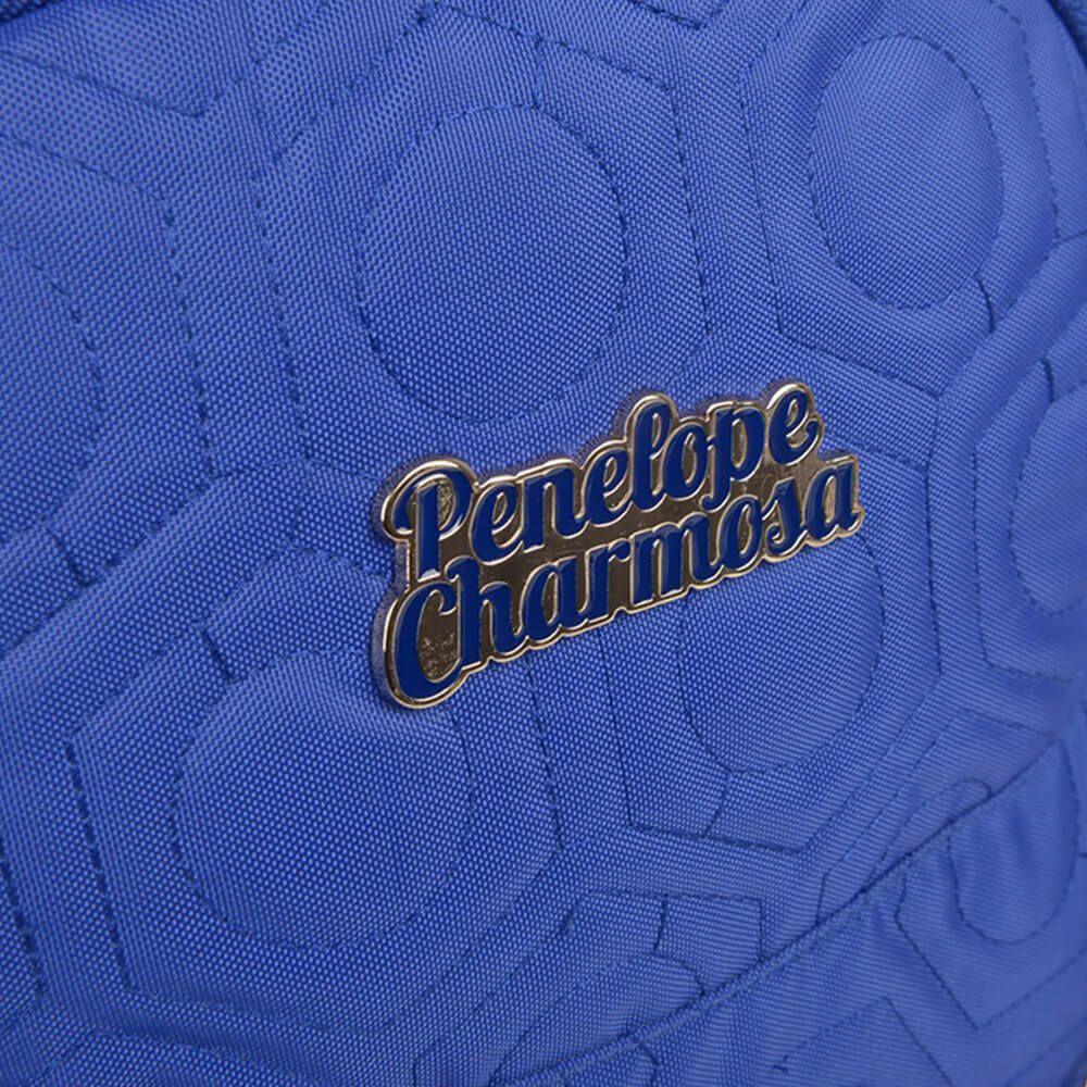 Mochila Notebook Penelope Charmosa com Corrente Azul