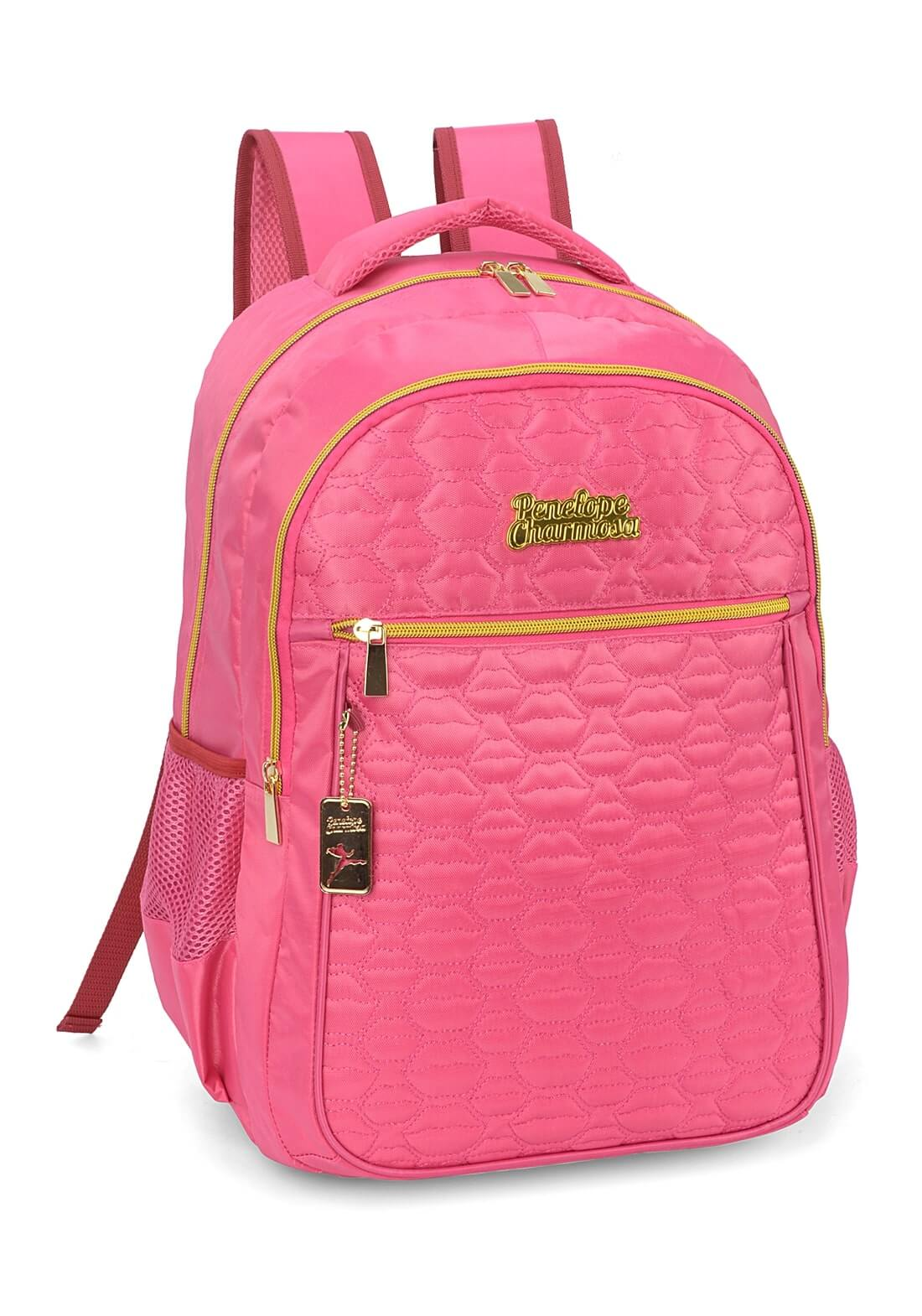 Mochila Notebook Penelope Charmosa Costas Pink Original NF