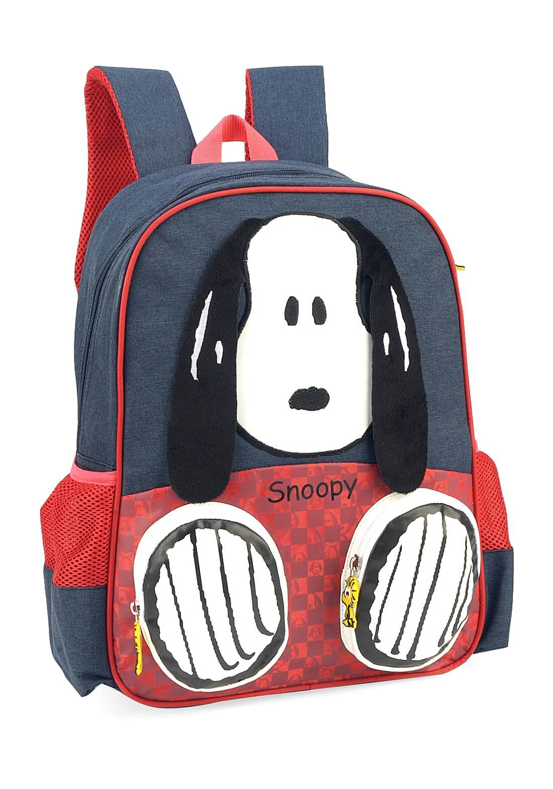 Mochila Peanuts Snoopy Costas 3D Orelhinha Patinha Original