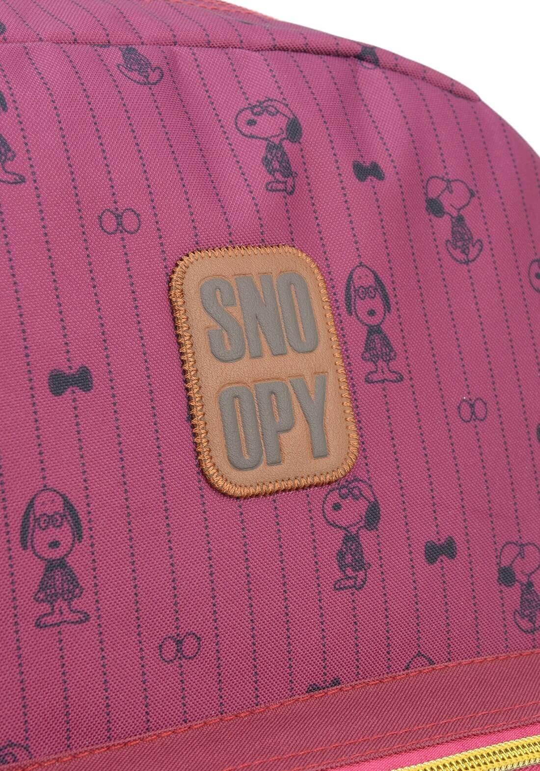 Mochila Peanuts Snoopy de Costas Notebook Original Vinho