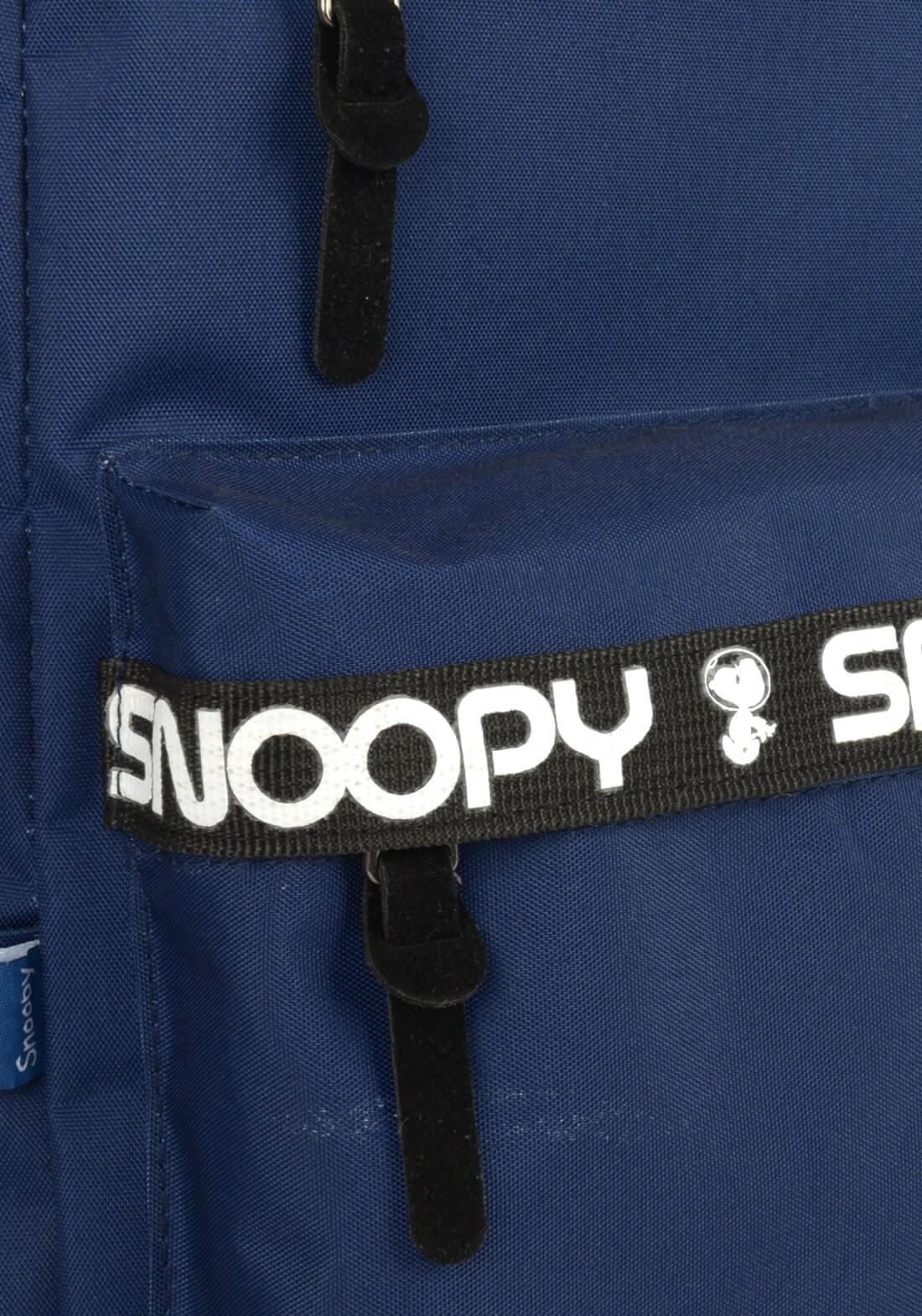 Mochila Peanuts Snoopy Notebook Costas Azul Original Garanti