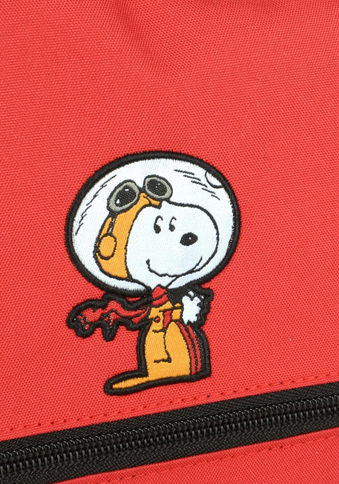 Mochila Peanuts Snoopy Notebook Vermelha Original Garantia