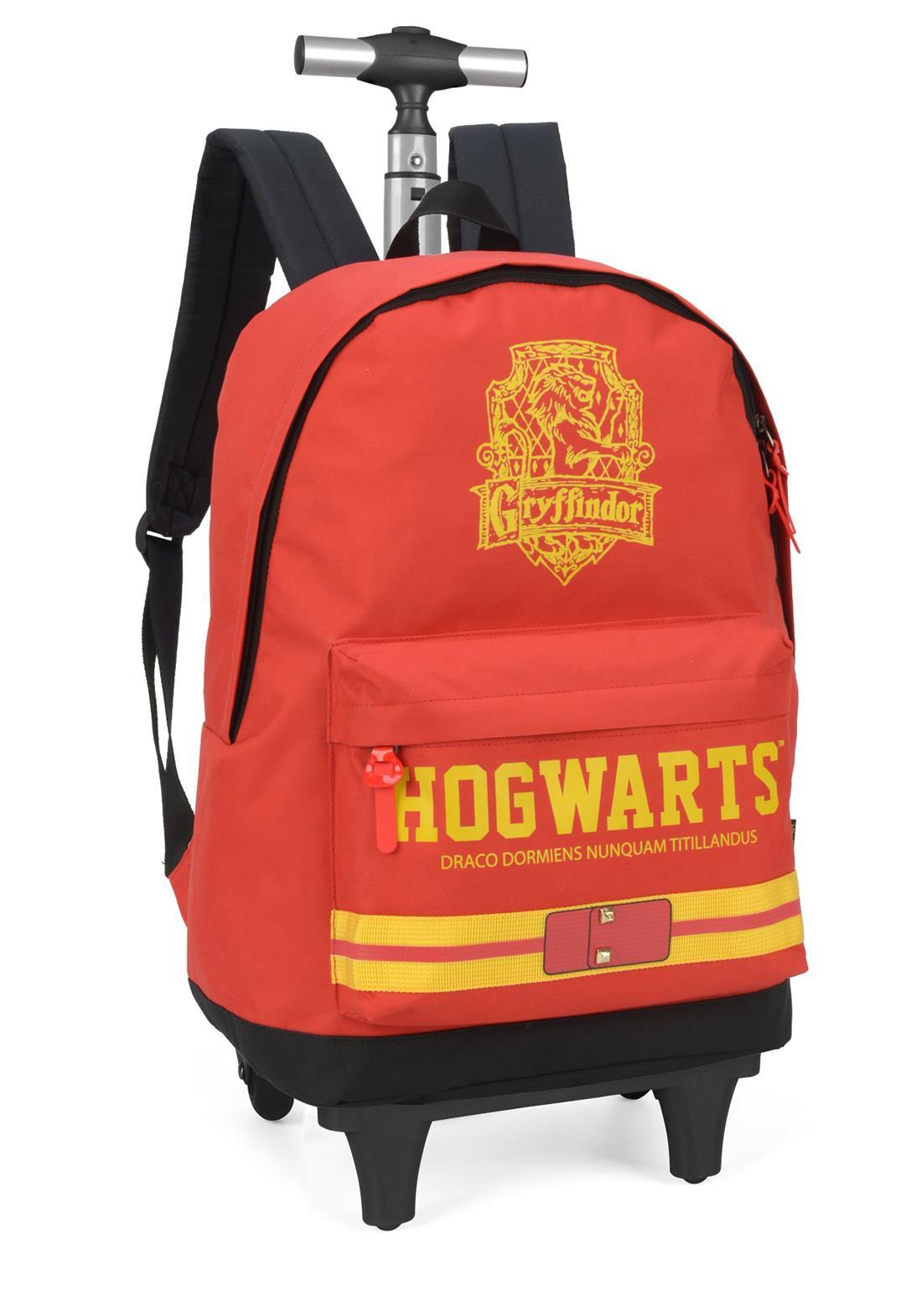 Mochila Rodinha Hogwarts Grifinoria Harry Potter VM Original