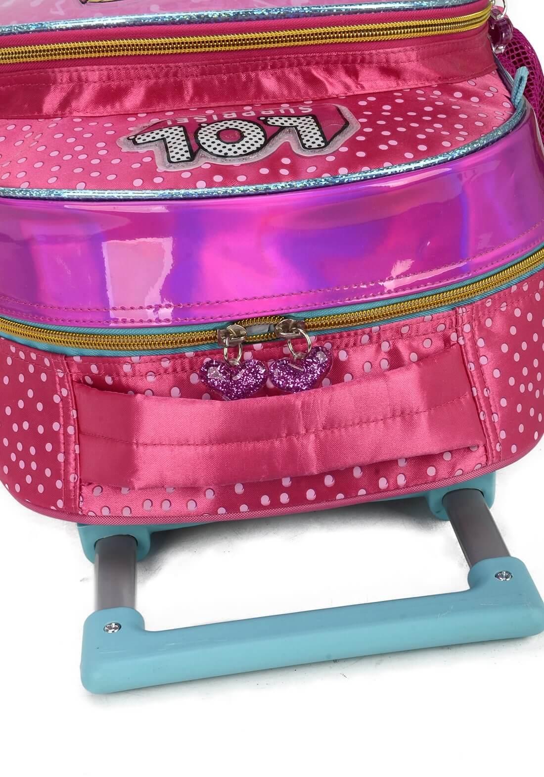Mochila Rodinha Lol Surprise Rosa Pink Mochila Miss Original