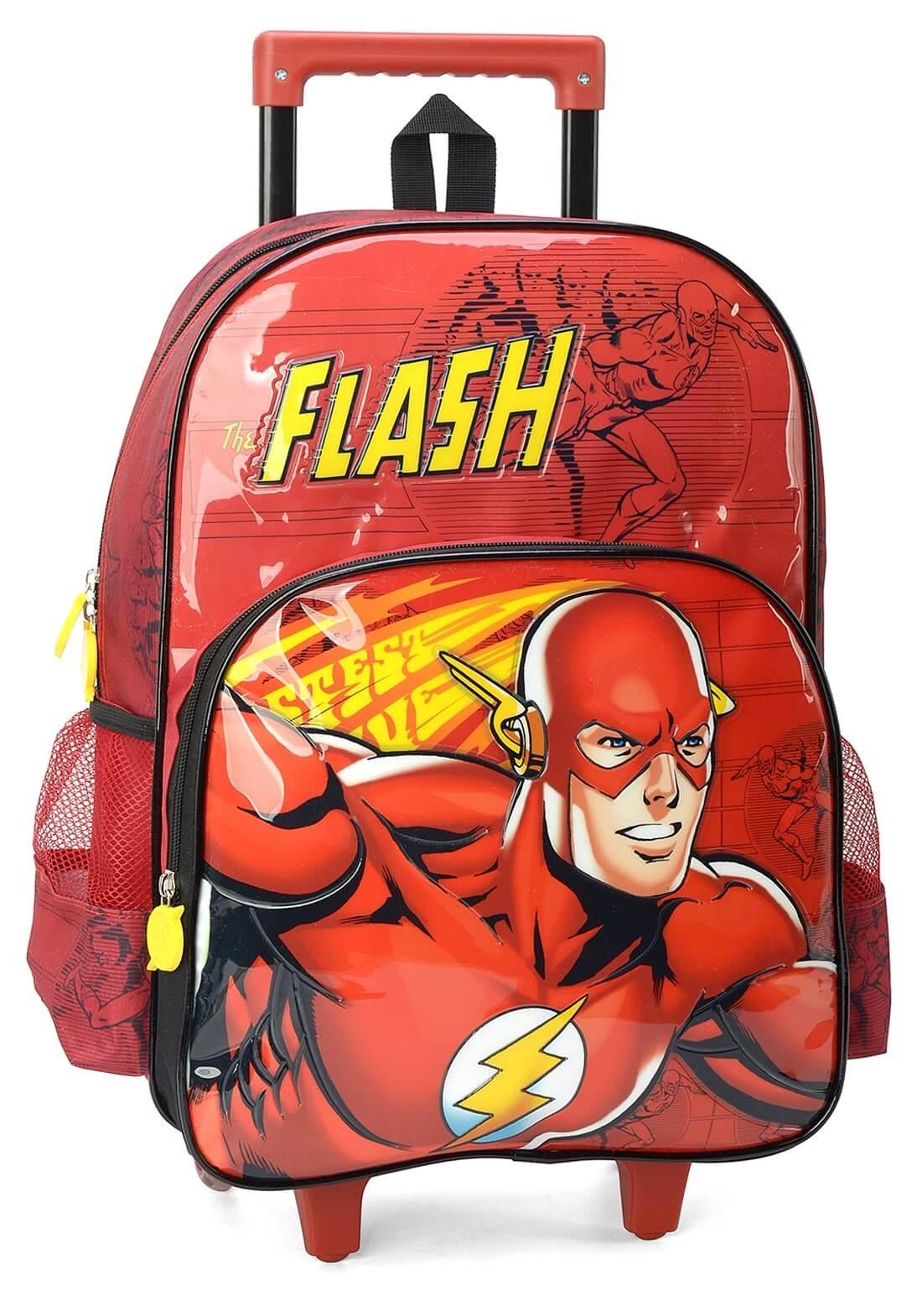 Mochila Rodinha The Flash Vermelha Mochilete Original Garant