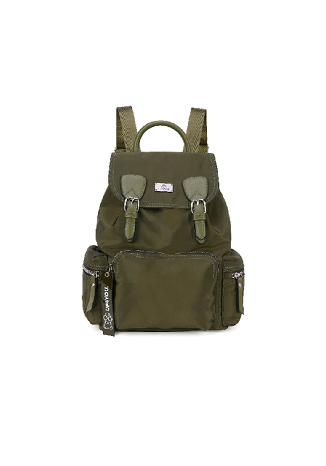 Mochila UP4YOU Fivela Aba Verde Musgo Militar Original