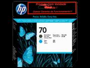 Cabeça Original Vencida HP 70 Matte Black & Cyan (C9404A)
