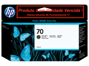 Cartucho Original Vencido HP 70 Matte Black (C9448A) 130ml
