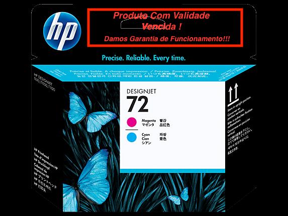 Cabeça Original Vencida HP 72 Magenta & Cyan (C9383A)