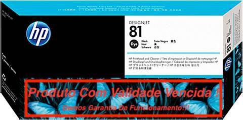 Cabeça Original Vencida HP 81 Black (C4950A)